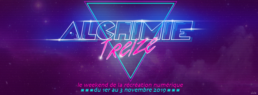 Alchimie 13 demoparty in Tain l'Hermitage city (Drôme, 1-2-3 november 2019)